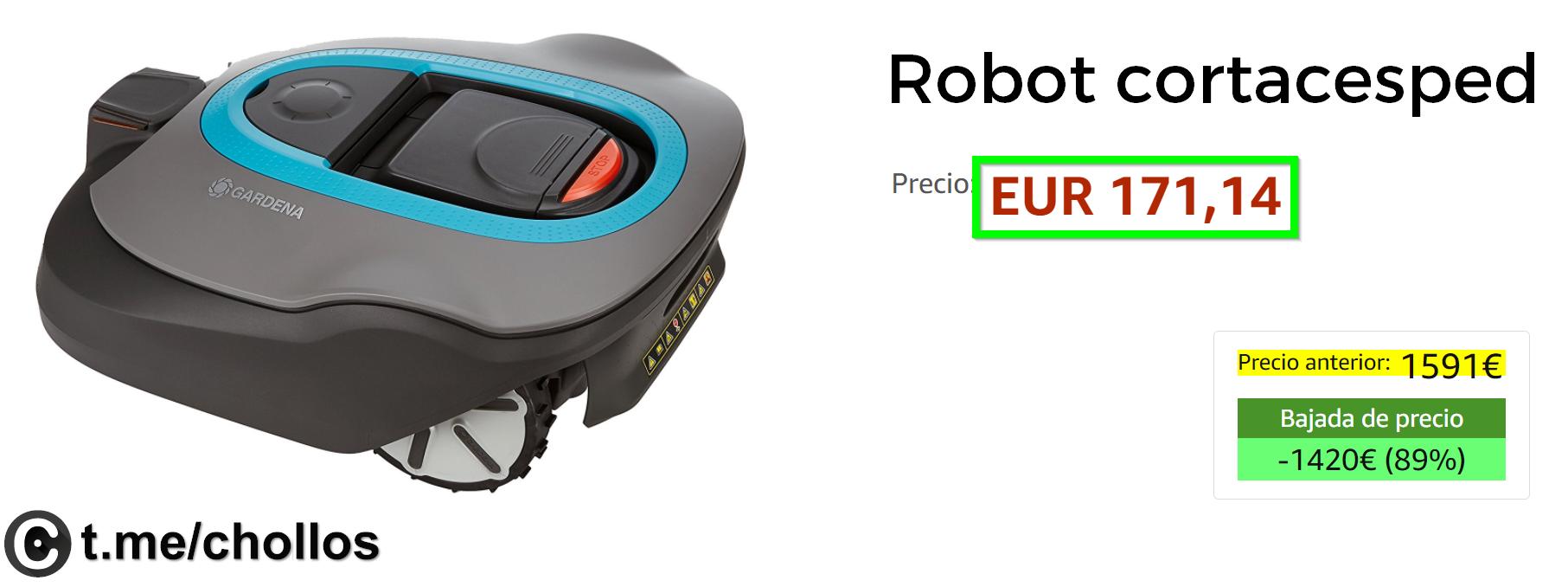 hogar electronica-y-gadgets Robot cortacésped disponible por sólo 171€