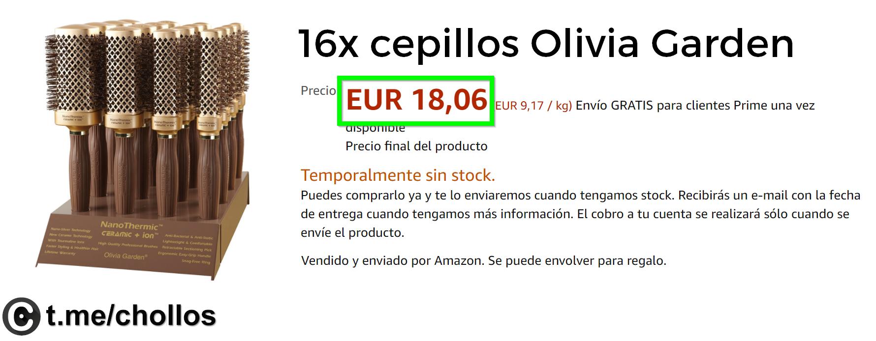 otros, belleza-y-cuidado-personal 16 cepillos Olivia Garden sólo 18€
