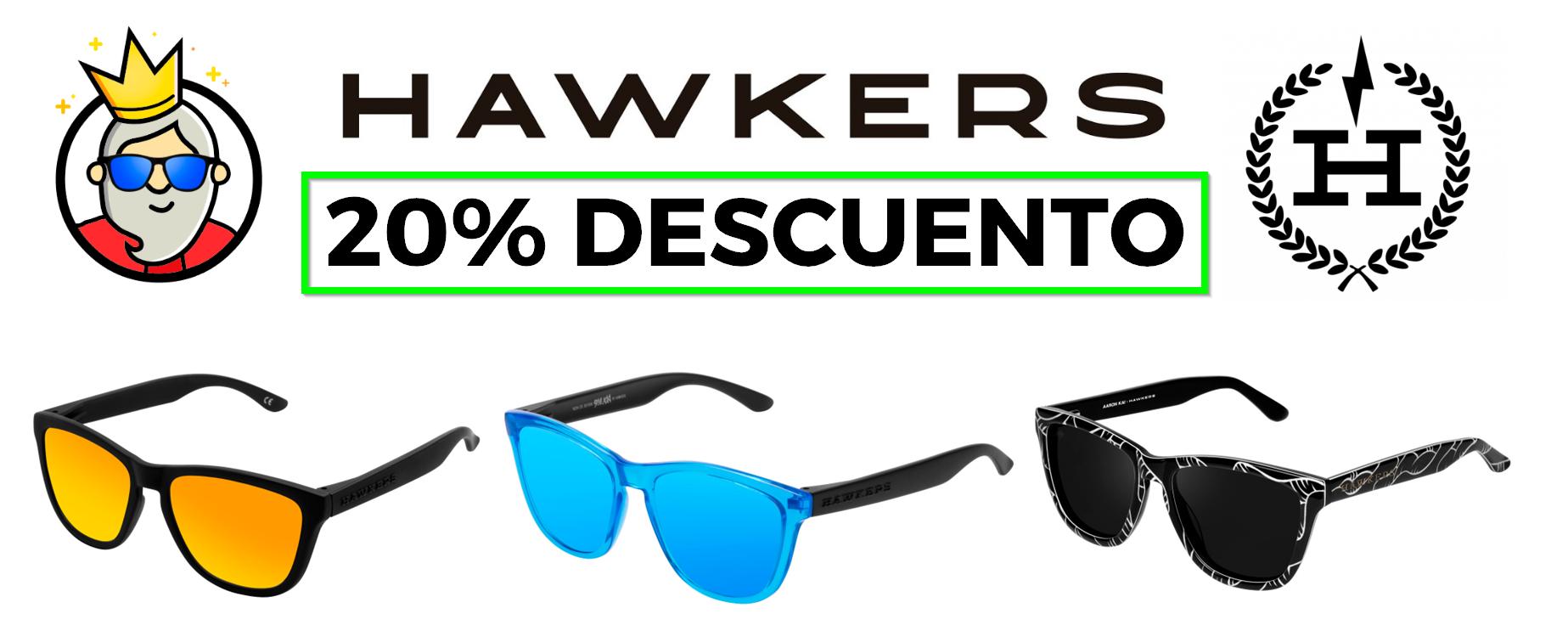 accesorios Descuento Hawkers: 20% de descuento en todos los modelos