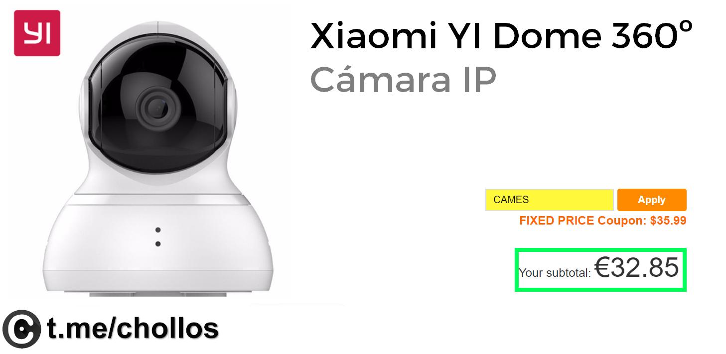 electronica-y-gadgets Cámara IP Xiaomi Dome 360º sólo 32€